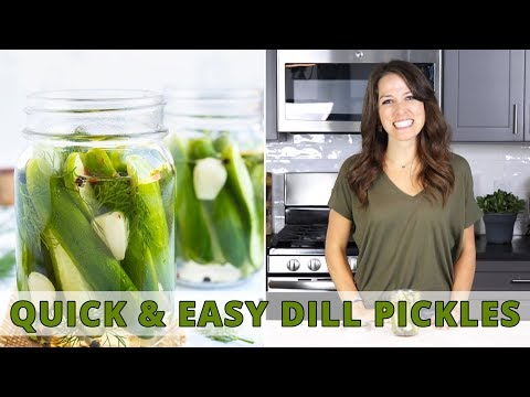 Overnight Refrigerator Dill Pickles | Quick & Easy