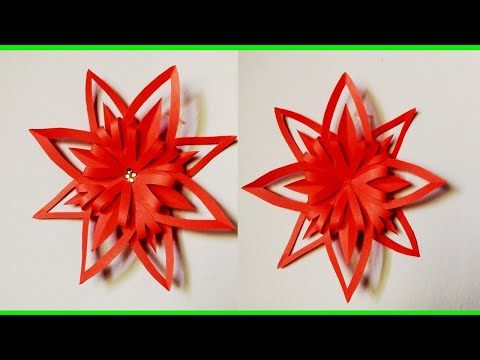 How To Make Origami Paper Flower| DIY Craft Idea | Making Home Decoration|  ZINAT Crafts