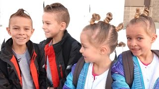👦🏽👧🏽KIDS CRAZY HAIR DAY AT SCHOOL!😜