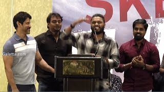 Heart Touching Moment Chiyaan Vikram Shares Stage Space With Assistant Directors@Sketch Success Meet