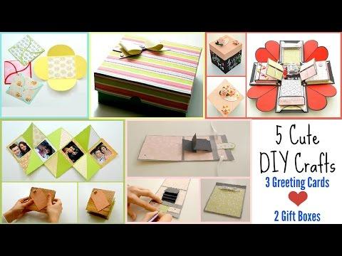 5 DIY Paper Crafts for Valentine's Day ! 3...