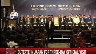 WATCH: Duterte meets Pinoys in Japan