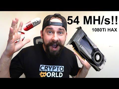 54 MH/s 1080Ti Ethereum Mining!! OhGodAnETHlargementPill