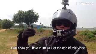 GOPRO Gimbal Stabilizer on Helmet for Motorcycle