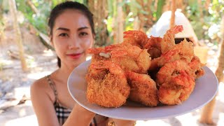 Crispy shrimp with bread cooking recipe by Natural Life TV