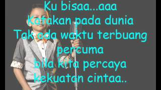 JOJO Indonesian Idol Junior - Kekuatan Cinta ( With Lyric )