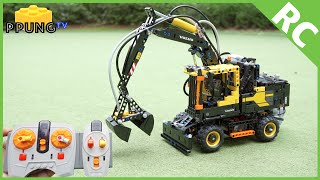 LEGO Technic 42053 - RC motorized Volvo EW 160E review by 뿡대디
