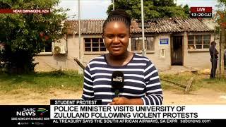 UPDATE: Bheki Cele is visiting the University of Zululand