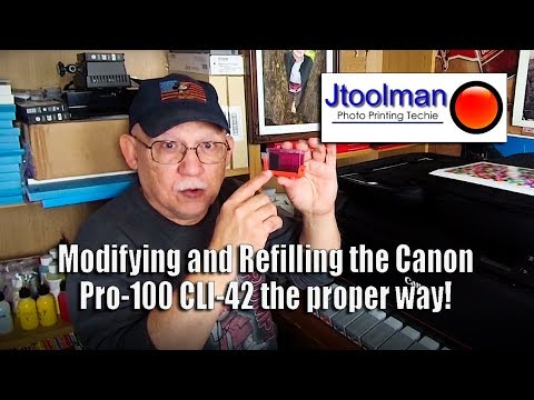 Modifying and Refilling the CLI-42 cartridges the proper way