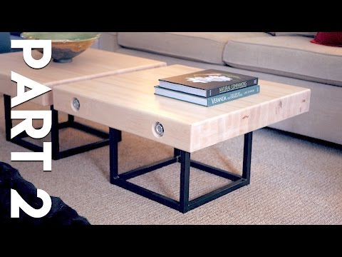 Modern Maple and Steel Coffee Table Part 2 | How To Build - Welding