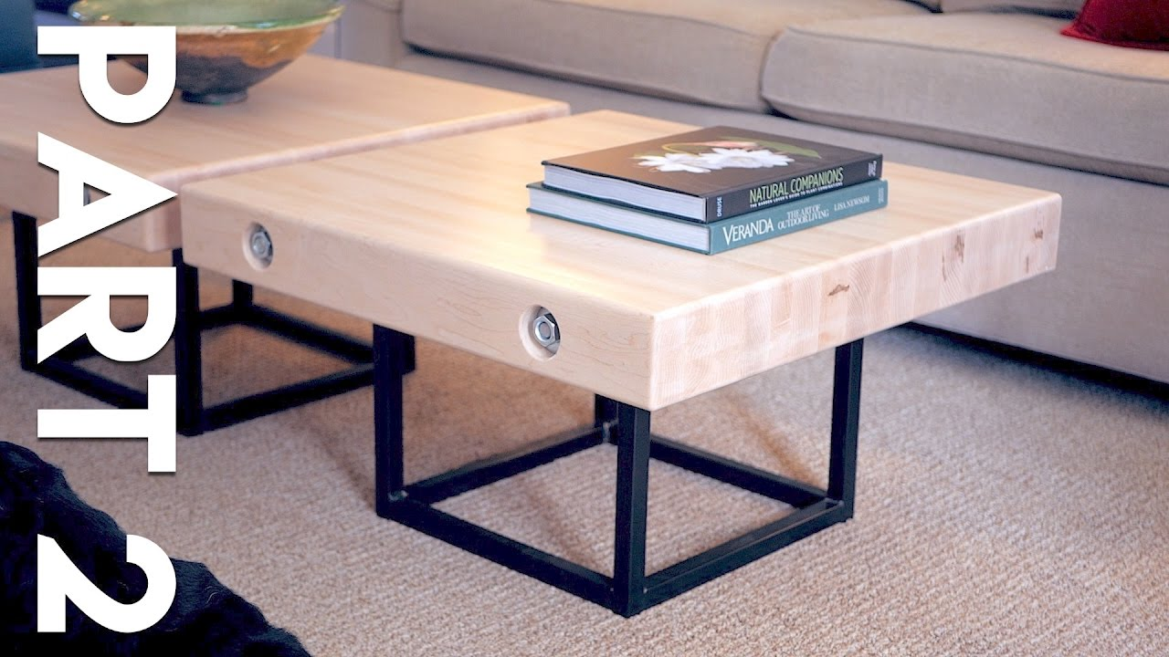 Modern Maple And Steel Coffee Table Part 2 How To Build Welding