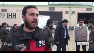 40 يتيما من حلب يصلون اعزاز بعد رحلة طولة وشاقة