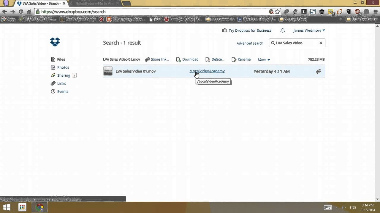 How to Upload Video from Dropbox to Vimeo!