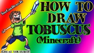 How To Draw Tobuscus ✎ Tobuscus Minecraft ✎ YouCanDrawIt ツ 1080p HD