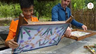 Laotian handicraft : Mulberry tree making by Nahm Dong Park | ORLA Tours Laos