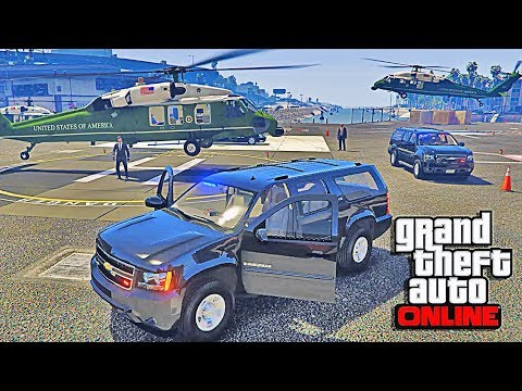 GTA 5 LSPDFR Online - President Escort Mod Game - Air Force One, Marine One, Motorcade Mission