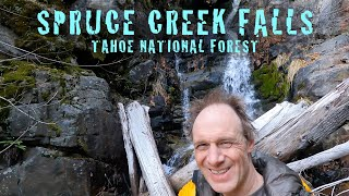 INSANE hike to se¢ret waterfall in Tahoe National Forest | Spruce Creek Falls