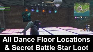 All Dance Floor Locations & Secret Battle Star Location - Fortnite Battle Pass Week 8 Challenges