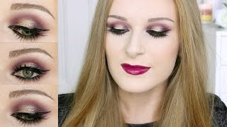 GLAM Fall / Autumn Makeup - Warm Purples + Golds!