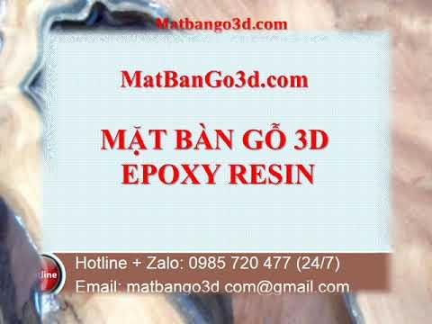 Giá Bán Mặt Bàn Gỗ 3D Epoxy Resin Ở Hải Phòng   0985 720 477 24 7
