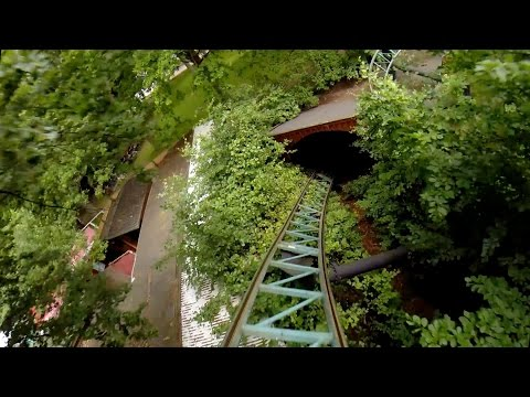 Mine Train Ulven Roller Coaster POV Bakken Amusement Park Denmark