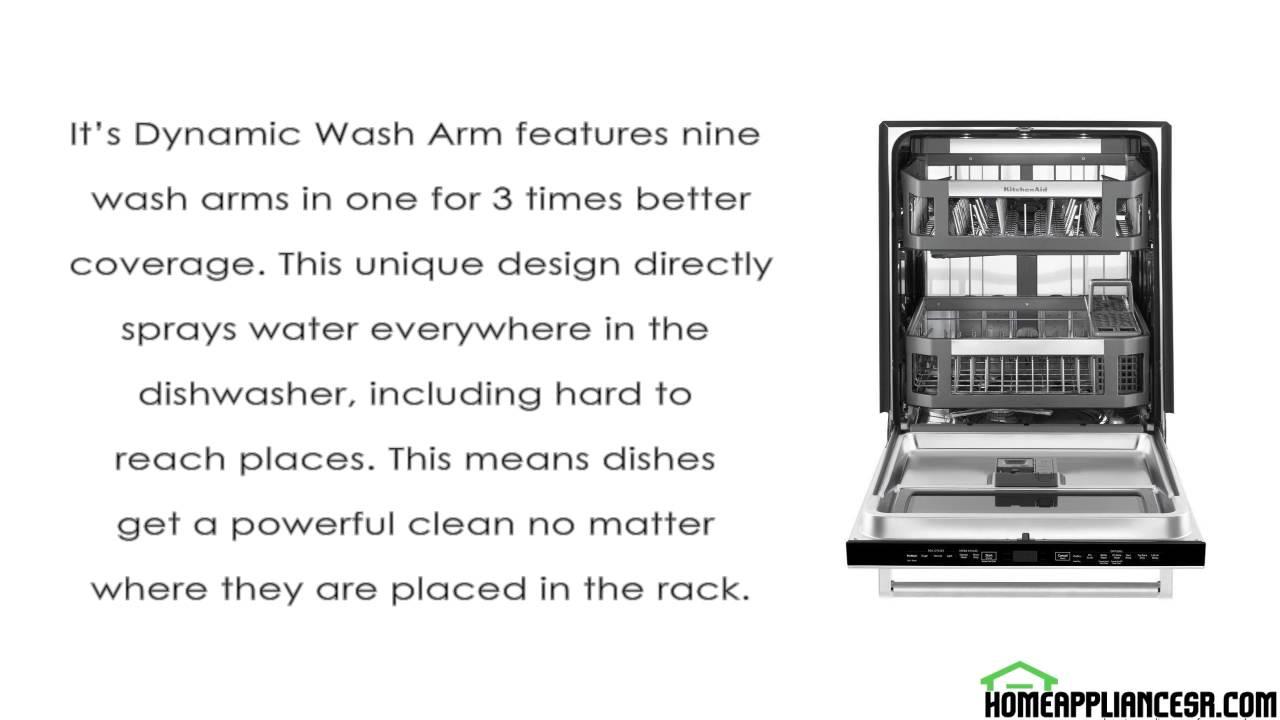 KitchenAid KDTM804ESS Review Top Control Dishwasher - YouTube