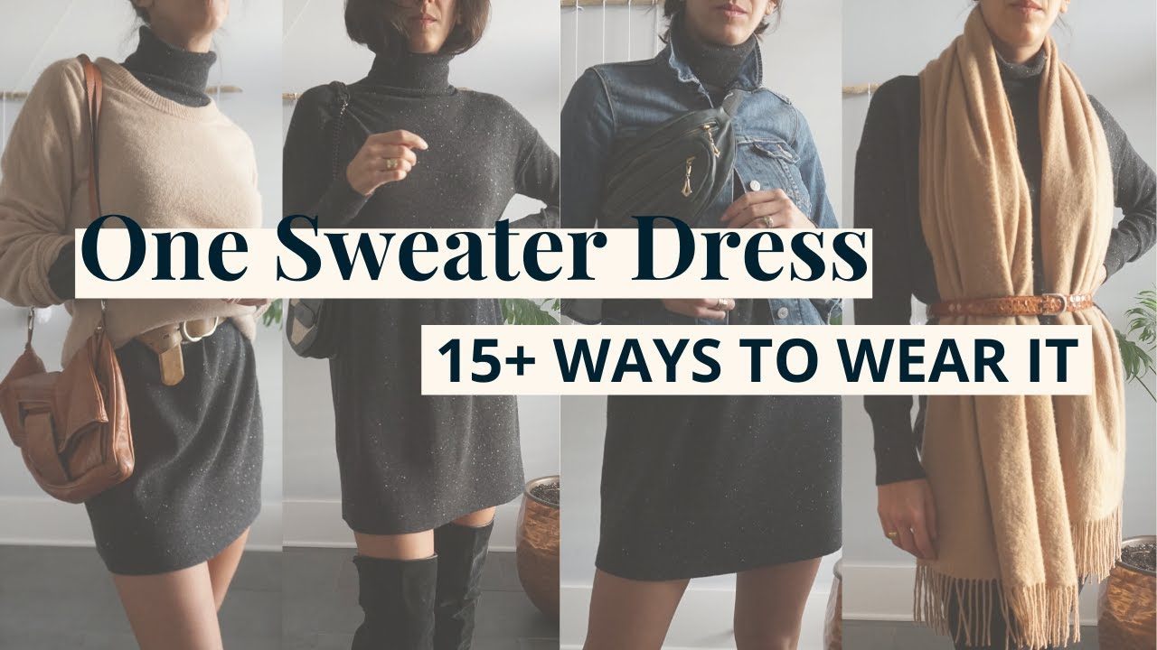 How to Style One Sweater Dress 15+ Ways! | Styling Closet Essentials | Slow Fashion