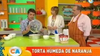 Torta húmeda de naranja