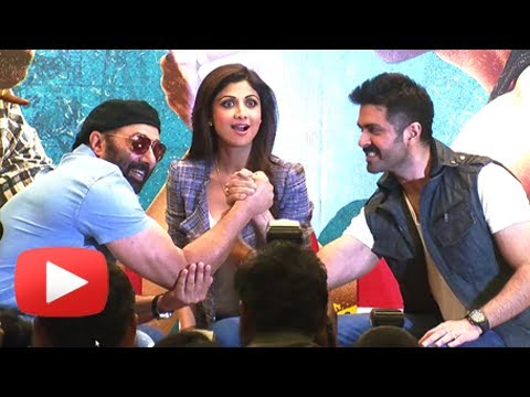 Sunny Deol And Harman Baweja Arm Wrestle At Dishkiyaoon Movie Press Conference