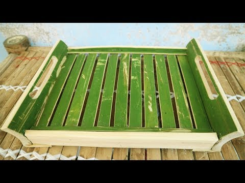 How To Make a Tea Tray from BamBoo - TLC