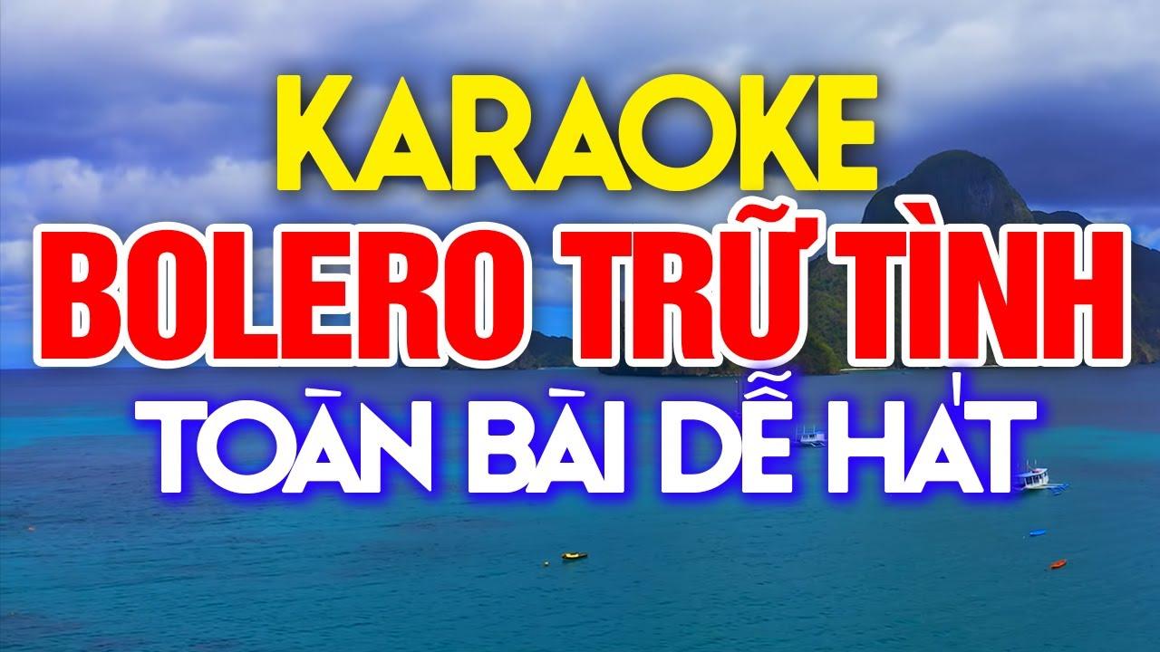 KARAOKE Liên Khúc Nhạc Sống Bolero Trữ Tình 2021 - Nhạc Sống Karaoke Toàn Bài Dễ Hát