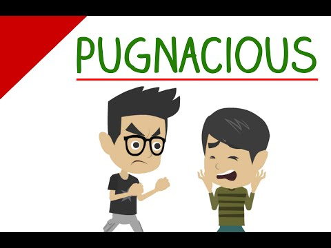 Learn English Words - Pugnacious (Vocabulary Made Easy with Pictures & Sentence Examples)