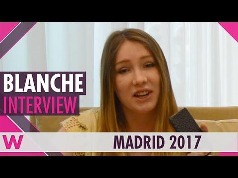 Blanche (Belgium 2017) Interview   Eurovision PreParty Spain Madrid 2017