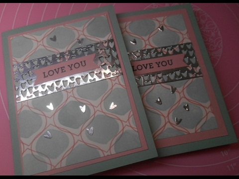 So in Love card -  background stamping