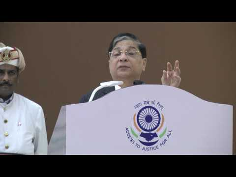 Hon'ble Mr.Justice Dipak Misra addresses,at the inaugural ceremony of tele law on 6th Jun at lucknow