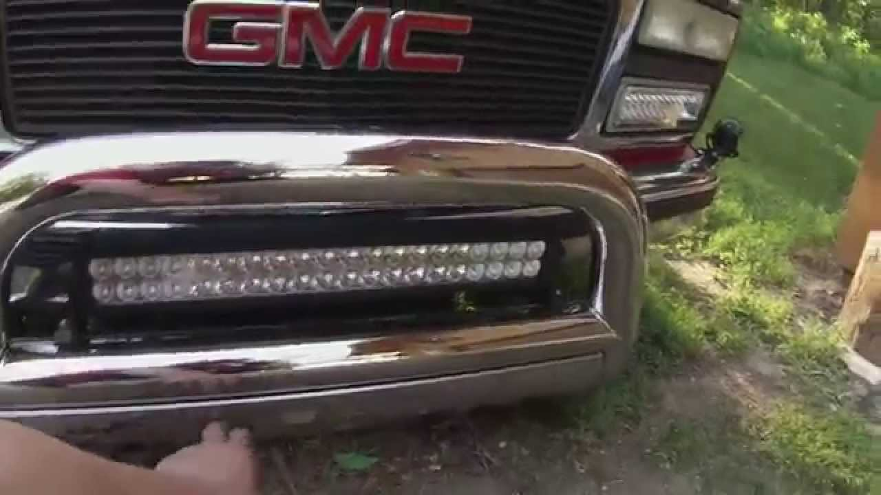 Led Light Bar Test And Review Cree Led Light Bar Youtube
