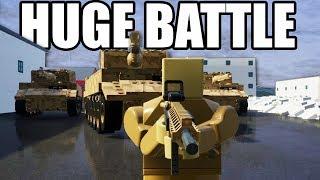 HUGE Multiplayer BATTLE in Brick Rigs!  TANKS vs Bazooka! (Brick Rigs Multiplayer Gameplay)