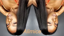 Affordable Bone straight Remy hair  Alimice hair Initial Review  Forever Tati