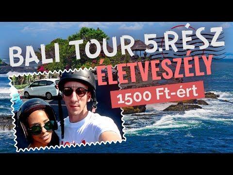 ÉLETVESZÉLY 1500 FT-ÉRT - Kétkeréken a sziklatemplomhoz/ BALI TOUR 5. TANAH LOT TEMPLOM