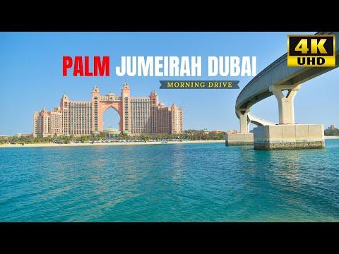 Palm Jumeirah Dubai Morning Drive | Seaside Dive in Dubai | Atlantis | Man-made Island | 2021