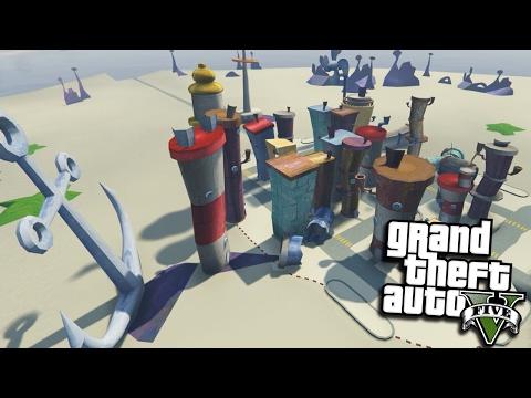 "GTA 5 Mods - SPONGEBOB'S ""BIKINI BOTTOM"" MOD (GTA 5 PC Mods Gameplay)"