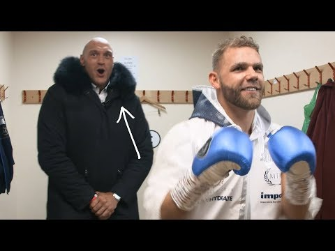 """""""WE ARE SPARTANS!"""" Tyson Fury shouts amazing war cry at Billy Joe Saunders"""