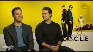 Armie Hammer and Henry Cavill talk Scotch Eggs and 50 Shades!