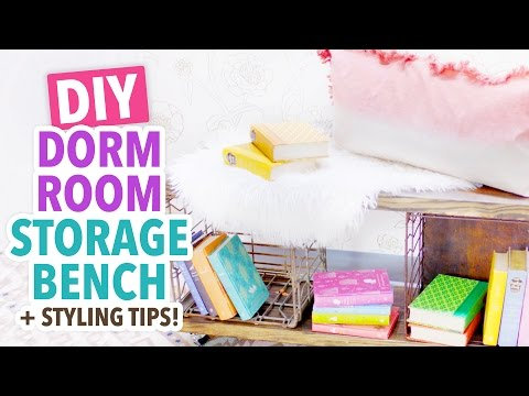 DIY Dorm Room Storage Bench | Dorm Room Ideas