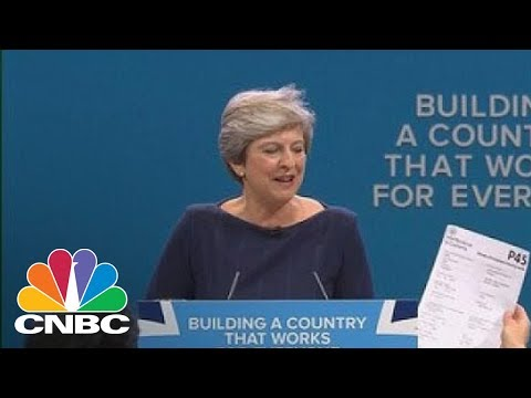 Prankster Interrupts British Prime Minister Theresa May's Speech | CNBC
