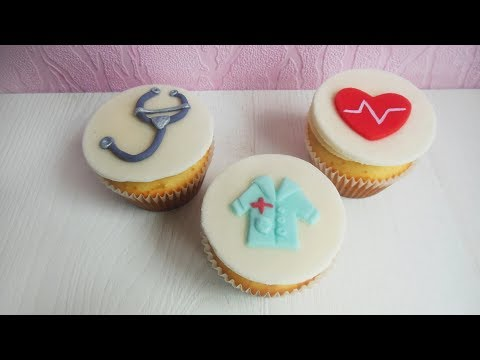 How to make medical cupcakes for doctor