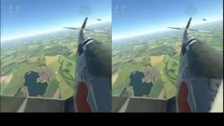 War Thunder: HTC Vive VR (custom game fooling around) Bf 109 F-4