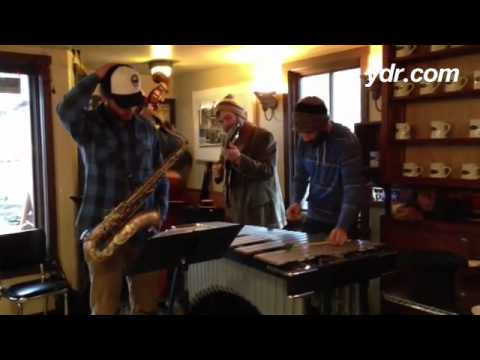 Saturday in a Langley, Washington coffee shop means jazz.