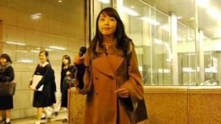 NANA「恋」(奥華子)ジブリ好きVer 2016/03/17 大阪 なんば駅5番出口での...