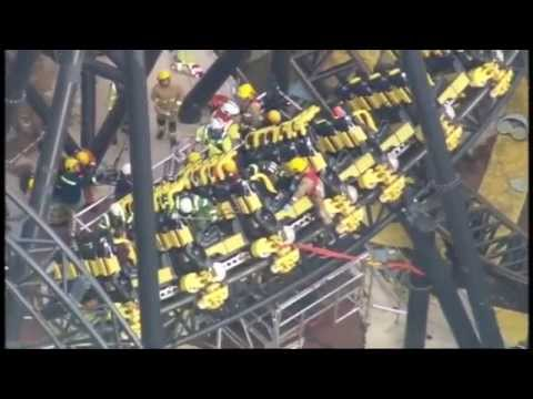 Alton Towers 'The Smiler' Crash - 2 Carriages Collide, 16 People Injured [NEW VIDEO]